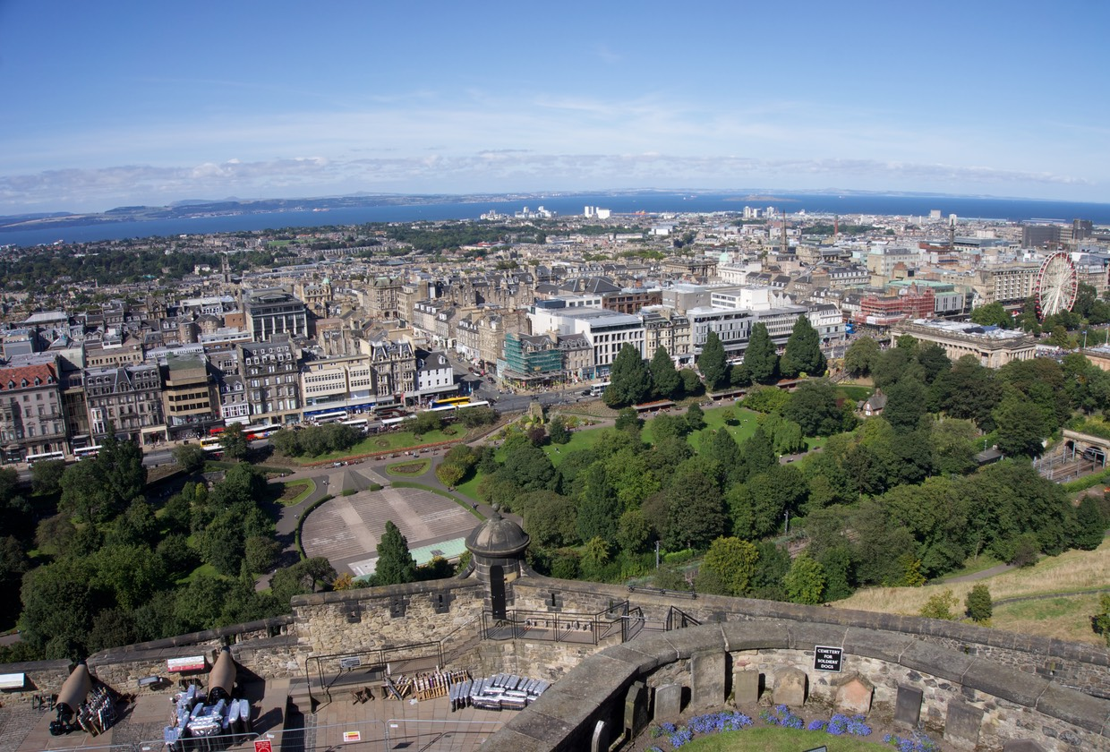 140826 13 Edinburgh Castle View of Edinburgh