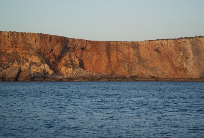 160827 Sunset on a very rolly anchorage Sagres Portugal