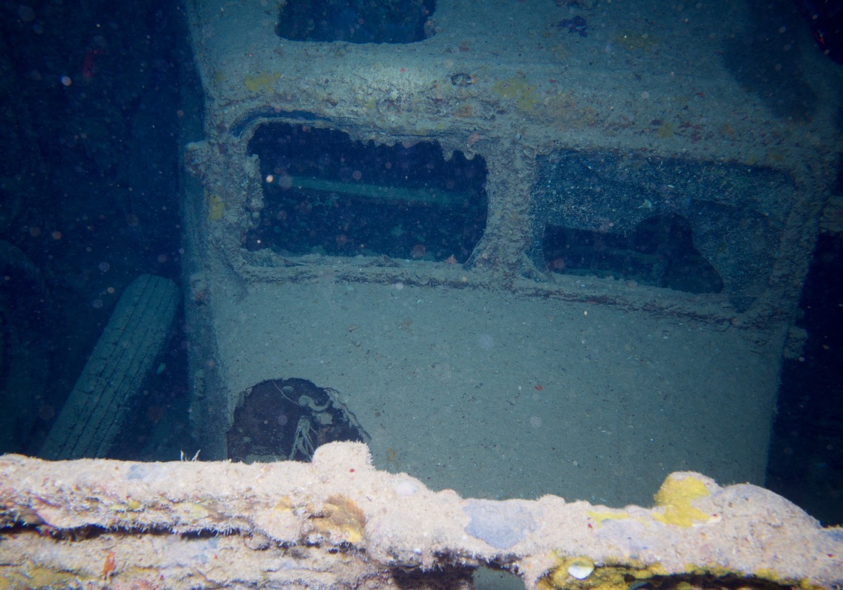 170902 Truck in cargo hold of Thistlegorm