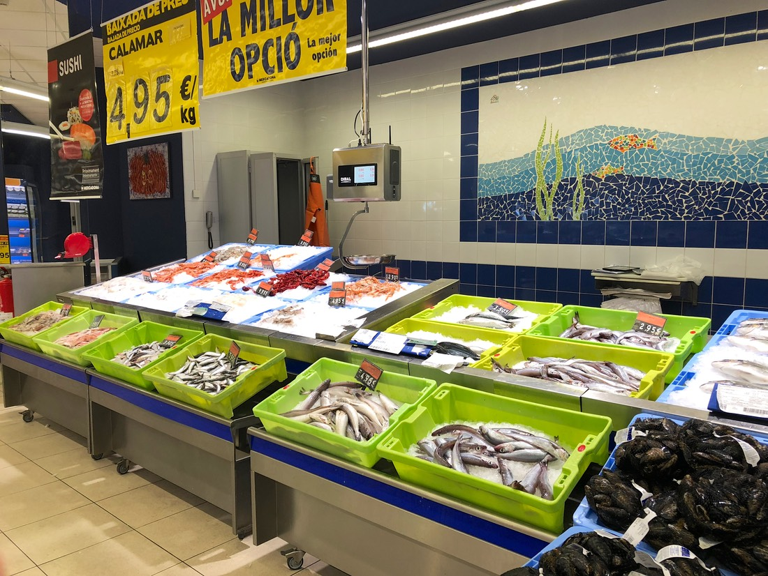 180707 Mercadona Local supermarket with fresh produce