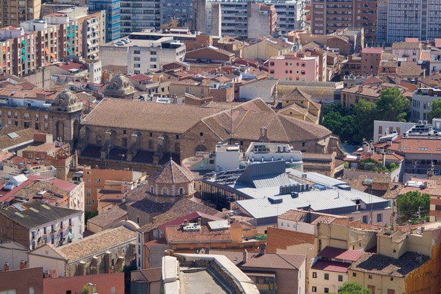 180726 10 Road Trip to Lleida Castell de Rei La Suda View of our accomodation from Bell Tower